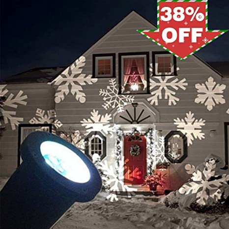 suyeeson led christmas light 4w led moving snowflake spotlight dynamic landscape projector light lamp