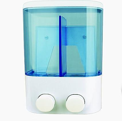 Doble pulsador de dispensador de jabón líquido para montaje en pared con tornillos para ducha Body