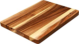 Villa Acacia Wood Bar Board 12 Inch, Small Portable and Lightweight Cutting Board