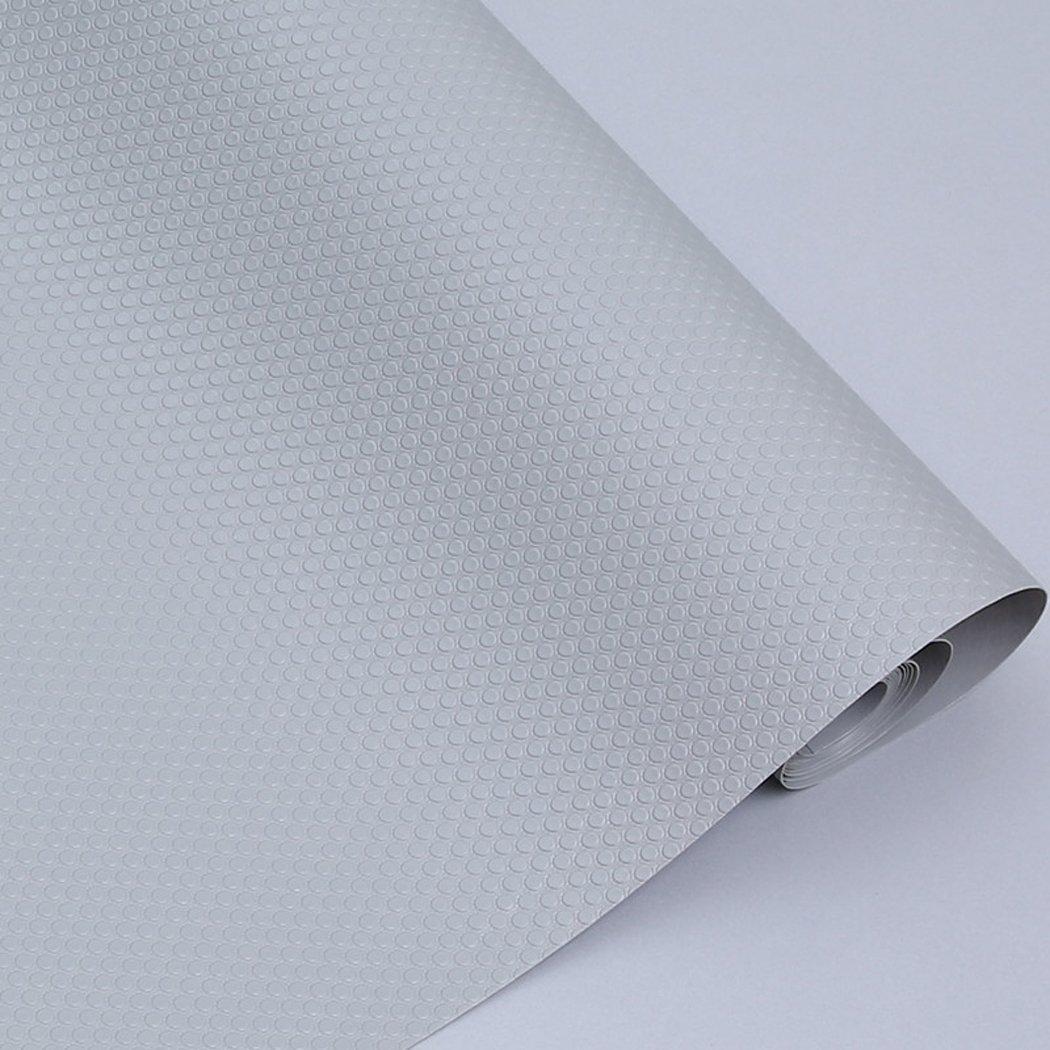 EVA Washable Waterproof Non-Adhesive Shelf Drawer Liner Roll for Refrigerator Kitchen Bathroom Cabinets Drawer Shelves Cupboard (Grey)