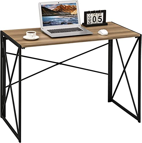 Coavas Computer Desk Writing Study Desk Folding Laptop Table