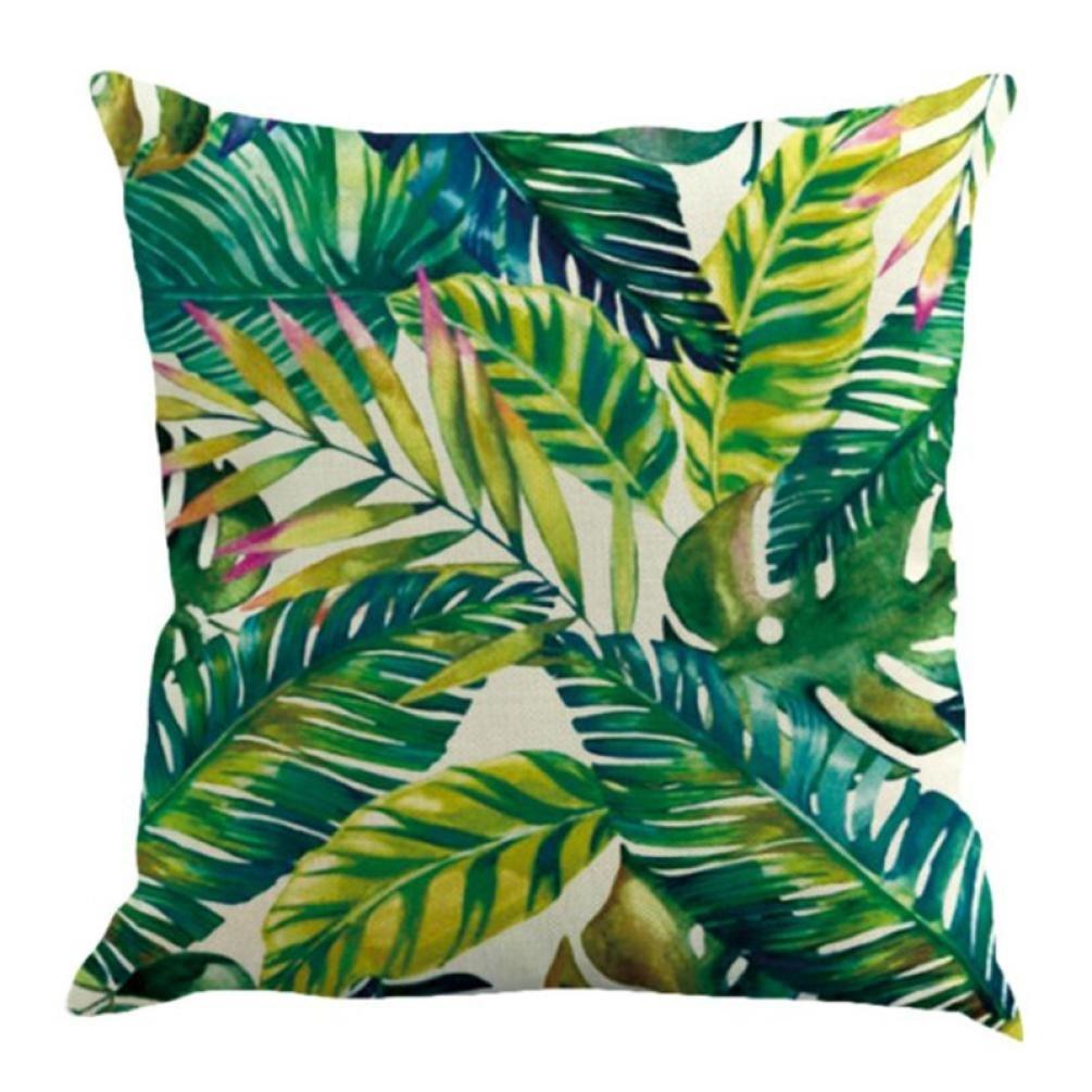 Fossrn Fundas Cojines 45x45 Tropical Floral Hojas Cuadrado Funda de Almohada Decoraci/ón del hogar 01