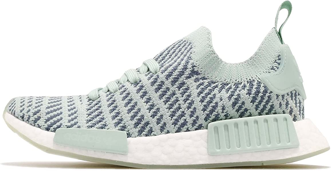 516a158f15591 adidas Originals Women s NMD R1 Stlt Primeknit Trainers Ash Steel US6.5  Green