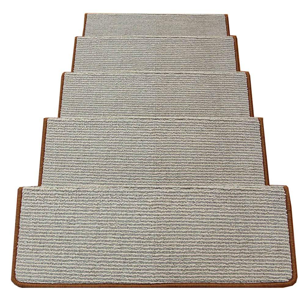 カーペット, 階段カーペットノンスリップマジックバックル階段マット、長方形ステップステッカーカーキ、1ピース、5ピース、10ピース (色 : 10 pieces, サイズ さいず : 24x100x3cm) 24x100x3cm 10 pieces B07LD7DPNV