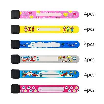 2f9f942cd371 pulsera seguridad niños ZoomSky 24pcs para evitar perder bebes de pulsera  niño ID impermeable de pulsera