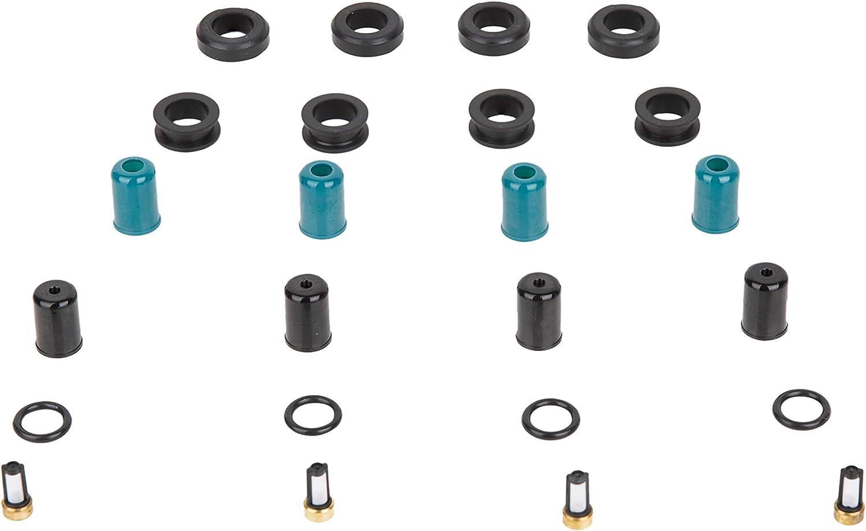 Fuel Injector 8 pc Rebuild Repair EV1 EV6 Oring Filter Basket Retainer Pintle