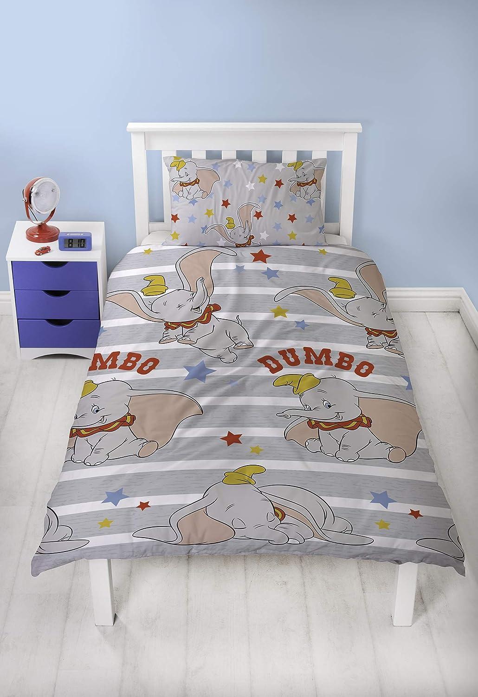 Dumbo Stars シングル羽毛布団カバーと枕カバーセット B07NQKK237