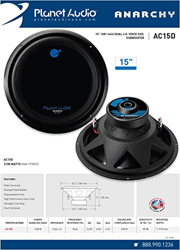Planet Audio AC15D Car Subwoofer review