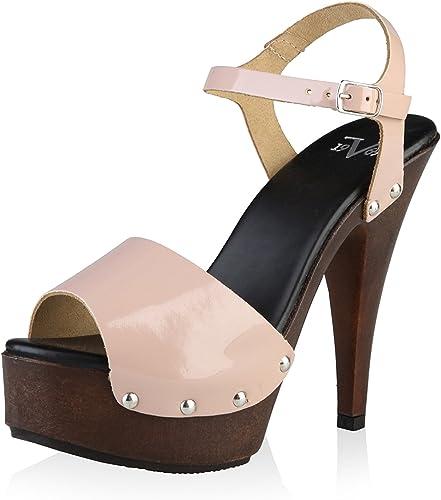 19V69 Damen Sandalette, Natur, 38 EU: : Schuhe