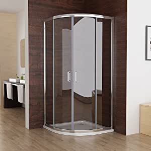 80 x 80 x195 cm cabinas de ducha redonda ducha Mampara de puerta ...