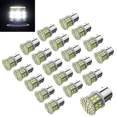 20Pcs 3014 RV Led Light Bulbs 50SMD For Camper Boat Car Interior Indoor Lights