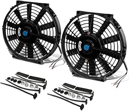 "4-PACK 10/"" INCH ELECTRIC FANS 12V RADIATOR COOLING FAN BELT DRIVE REPLACEMENT"