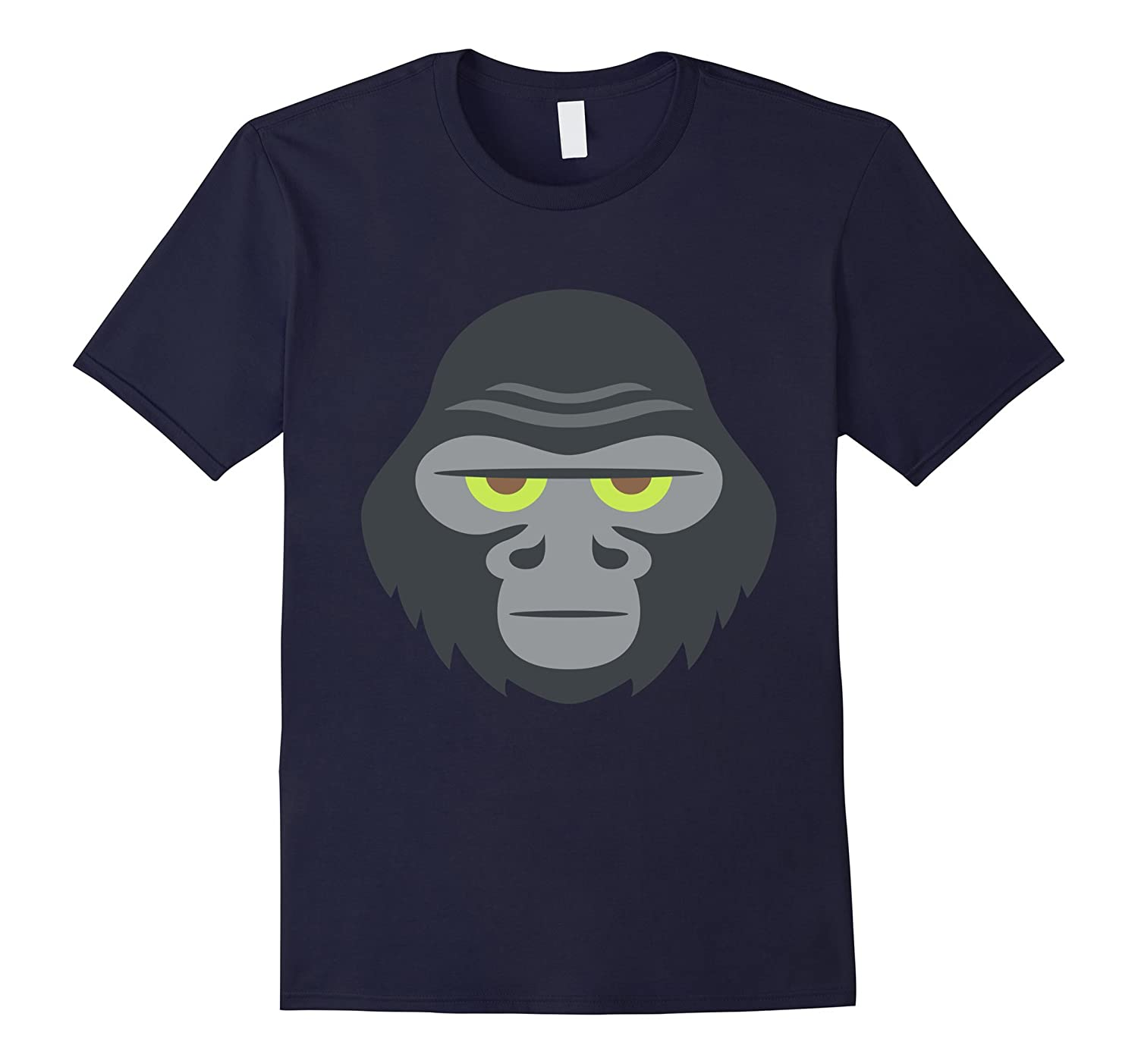 Gorilla Emoji Costume Fun Funny Black T Shirt Tee Men Mask-BN