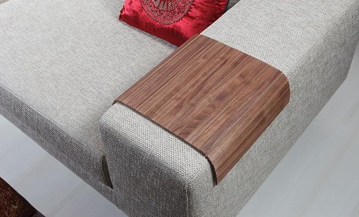 Sofa Tray Table ( Natural American Walnut ), Sofa Arm Tray, Armrest Tray,
