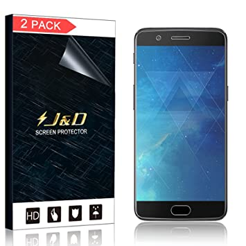 J&D Compatible para 2-Paquete Protector de la pantalla de OnePlus ...
