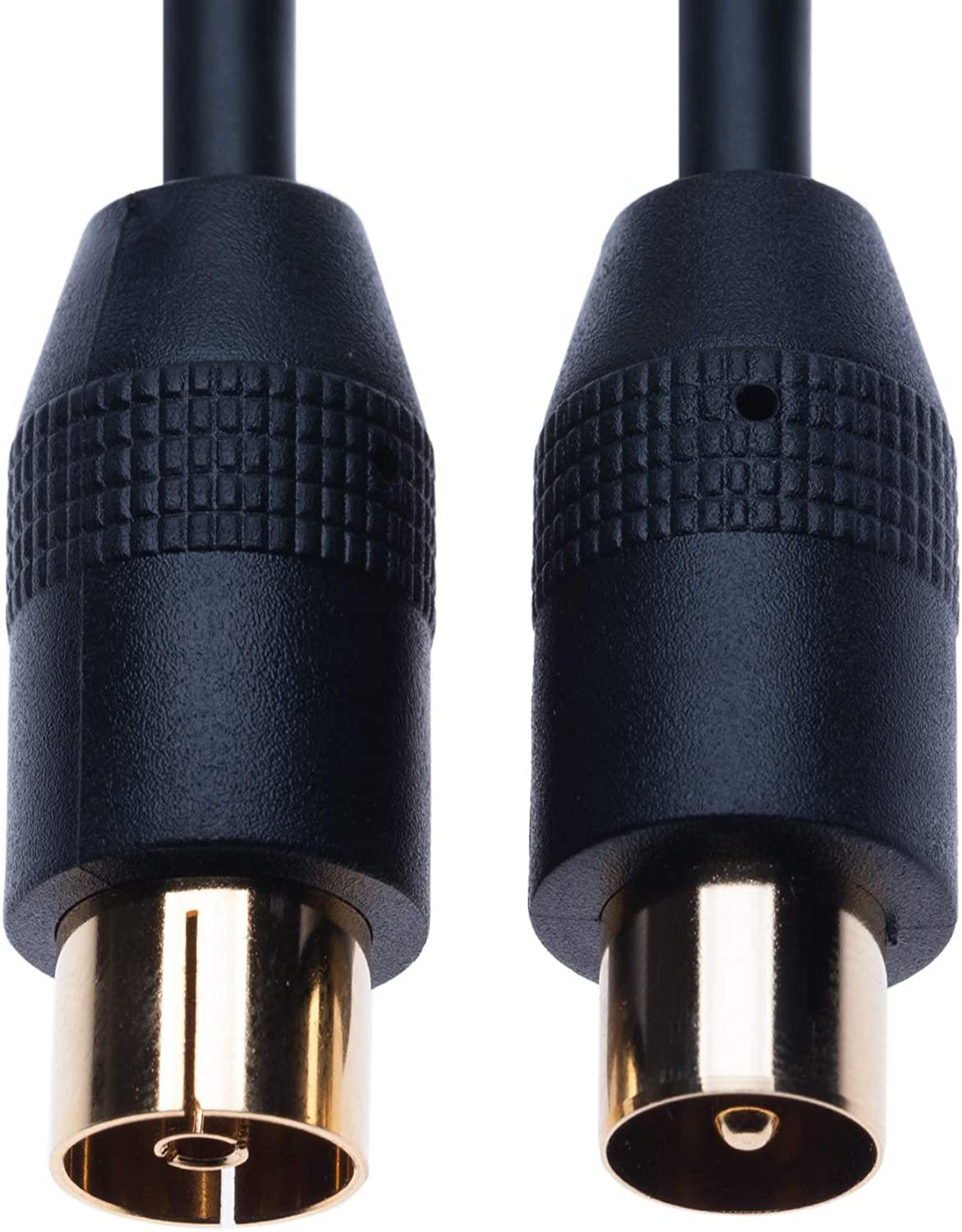 Gold M-F Connector TDS Wow! Black AT/&T Xfinity RF Coaxial Cable TV Aerial Lead 3m Coax Plug Male to Female Antenna Socket Extension for Freeview DVD VCR Connect to Television COX