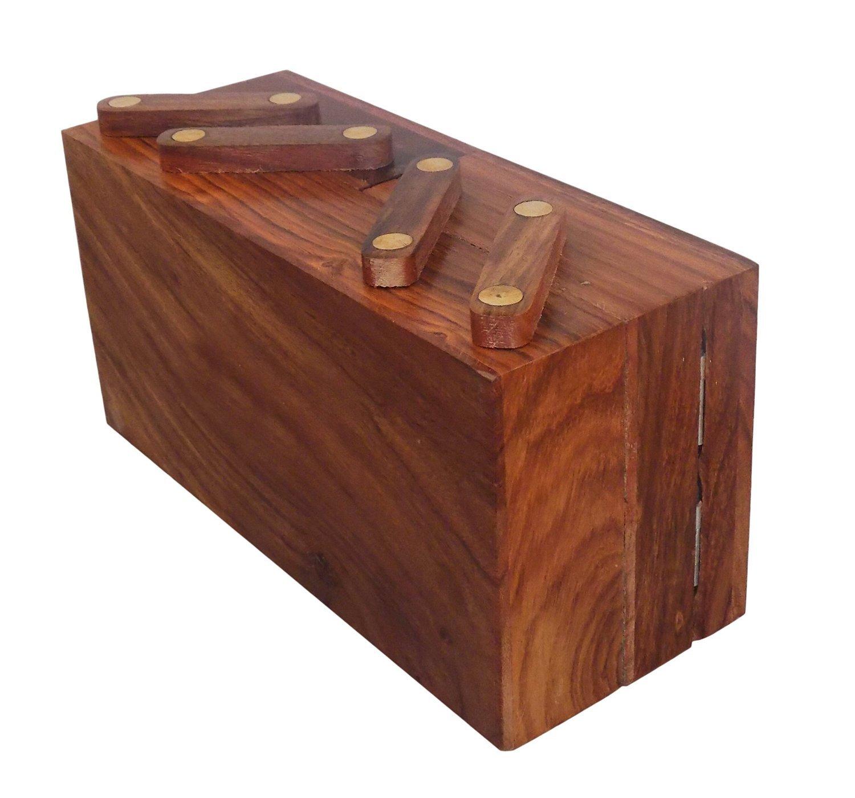 Christmas Gift/ Christmas Sale Crafts'man handmade Wooden Sliding Jewelry Box/ Chest/Keepsake w...