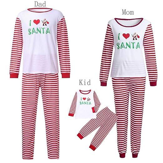 Amazon.com  Women Baby Family Pajamas Christmas Santa Claus ... 05f4667238