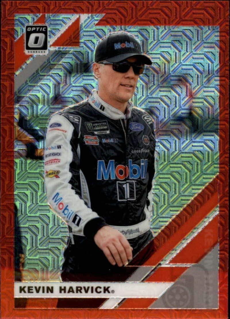 Wrapper Redemption Exclusive 2020 Donruss Racing Optic Red Mojo Prizm #20 Kevin Harvick Mobil 1//Stewart-Haas Racing//Ford Official Panini America NASCAR Trading Card