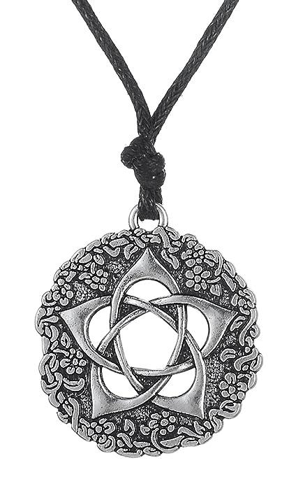 Dawapara Pagan Pentacle of the Goddess Rose Talisman Colgante Pentagram Collar Protección Regalos Joyería ynEJWmZu