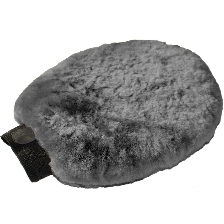 Véritable Laine d'agneau Gant de lavage de voiture par Peaufineurs United | 100% laine naturelle Australie automobile Détails Gant de toilette, grand 26cm x 20cm, taille unique, rapidement et Nettoie
