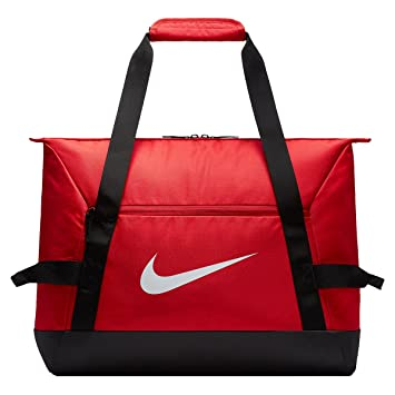 8f8c3cc414a Nike Unisex s NK ACDMY TEAM S DUFF Gym Bag, University red Black White
