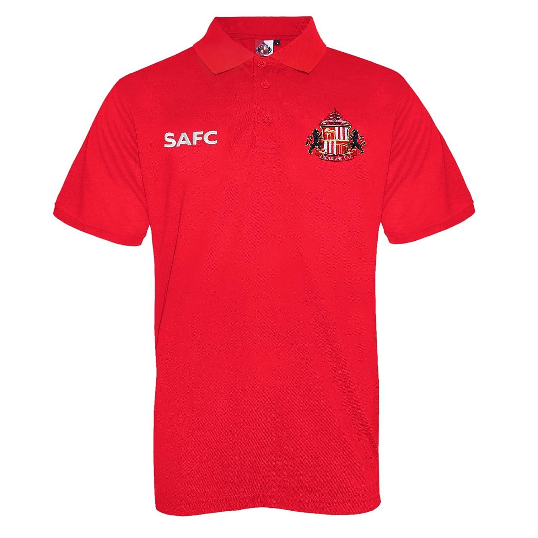 Sunderland AFC - Polo Oficial para Hombre - con el Escudo del Club ...