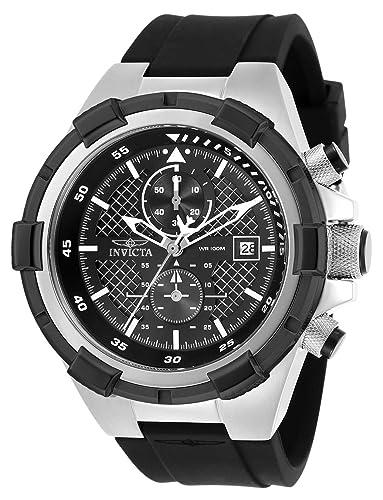 Invicta Aviator Reloj de Hombre Cuarzo Correa de Poliuretano Color Negro 28095: Amazon.es: Relojes