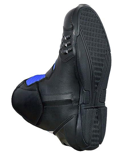 Motorrad Stiefel Racing Stylist Kurze Ankle Boot Motorrad Off Road Touring Schuhe Wasserdicht gepanzert f/ür Herren Jungen UK 10