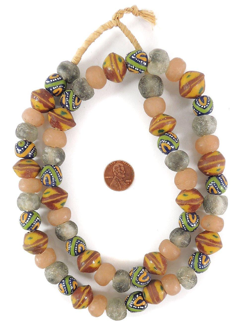 Krobo Beads - Cuentas de cristal reciclado en polvo para Ghana ...