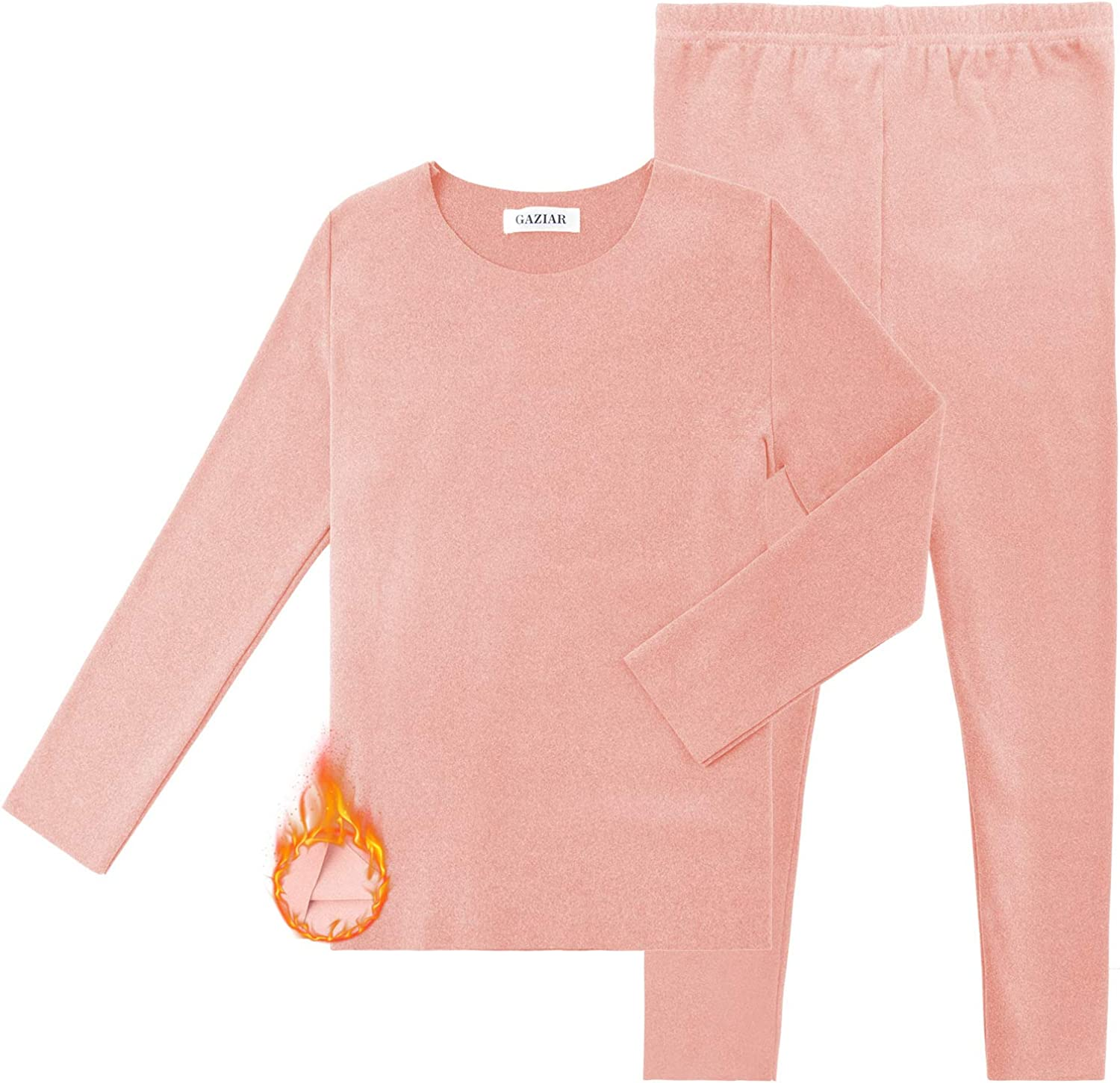 GAZIAR Thermal Underwear for Girls Kids Thermal Long Johns Pajamas Set with Ultra Soft Fleece Lined 2PCS 4-14Y