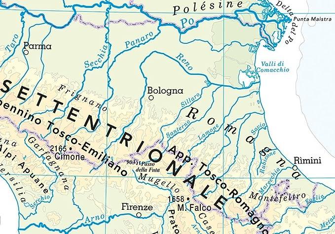 Cartina Italia Politica Aggiornata.Carta Geografica Murale Fisica E Politica Italia Belletti 97x134 Cm Ms01pl Amazon It Cancelleria E Prodotti Per Ufficio