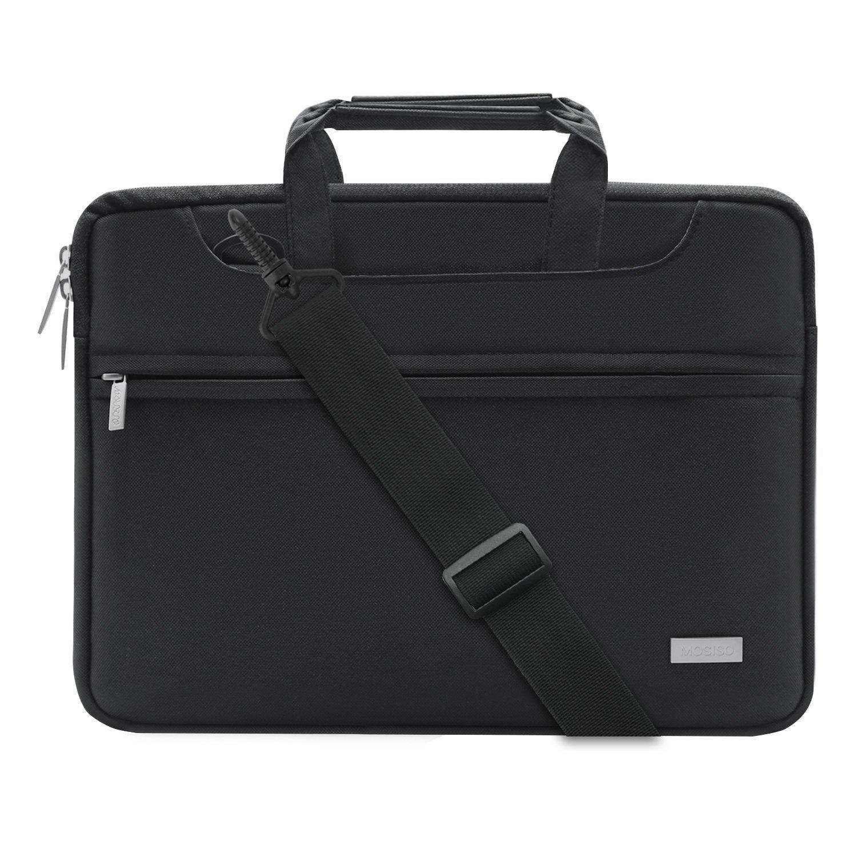 MOSISO Laptop Umhängetasche für 13-13,3 Zoll MacBook Pro, MacBook Air, Notebook Computer, Polyester Aktentasche Messenger Tragetasche Schultertasche mit Rückengurt für Trolly Case, Grau 13-Gray-Shoulder-Belt