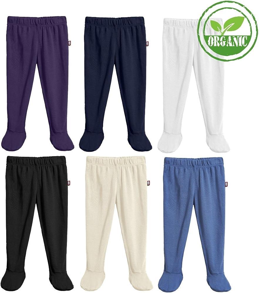 City Threads Bebé Niños y niñas Footed Pantalones, 100% algodón orgánico, Suave Acogedor Transpirable - Negro -: Amazon.es: Ropa y accesorios