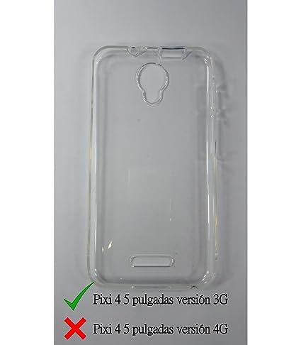 Funda de gel TPU carcasa silicona para Alcatel Pixi 4 5.0 3G Transparente