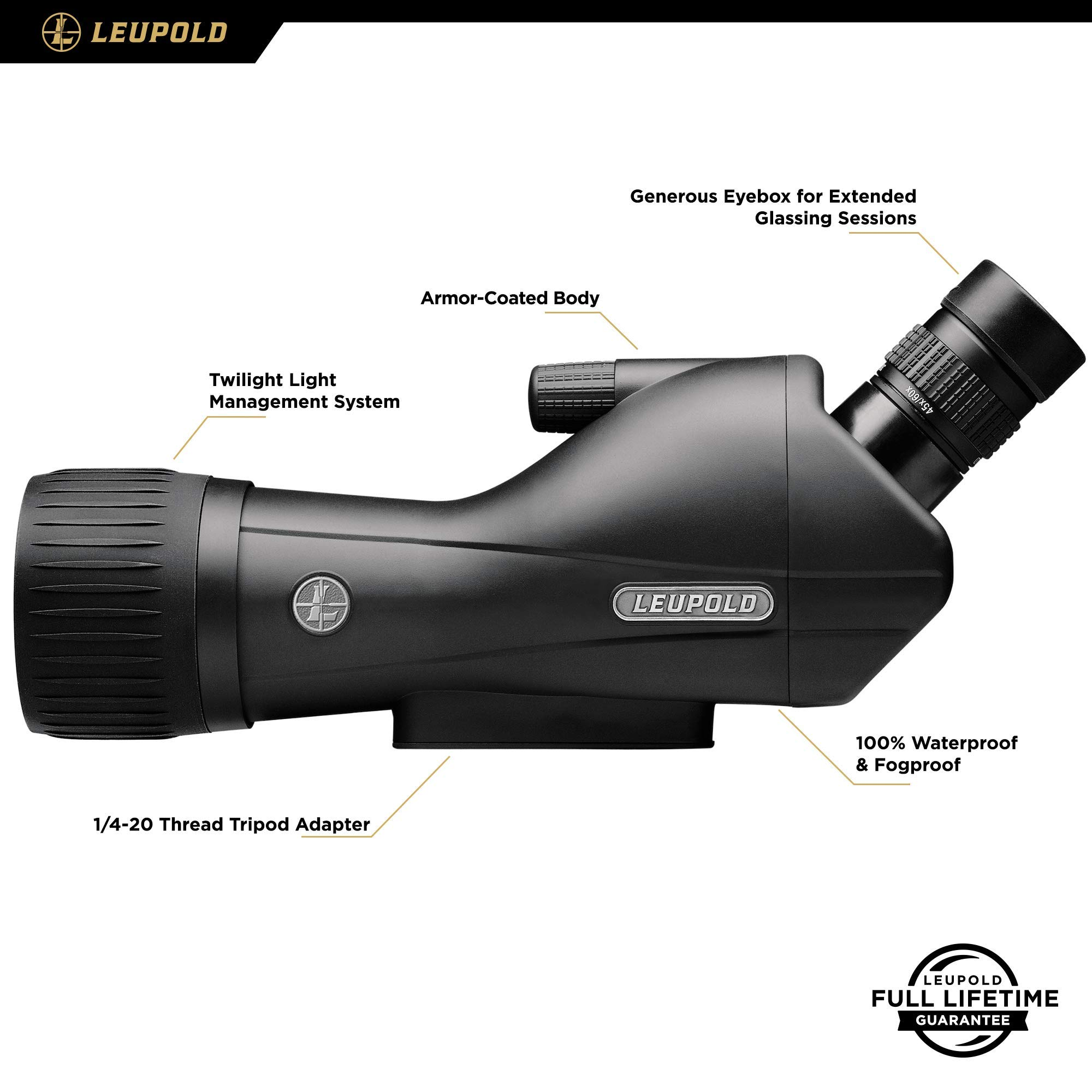 Leupold SX-1 Ventana 2 15-45x60mm Angled Spotting Scope, Black Finish by Leupold (Image #2)