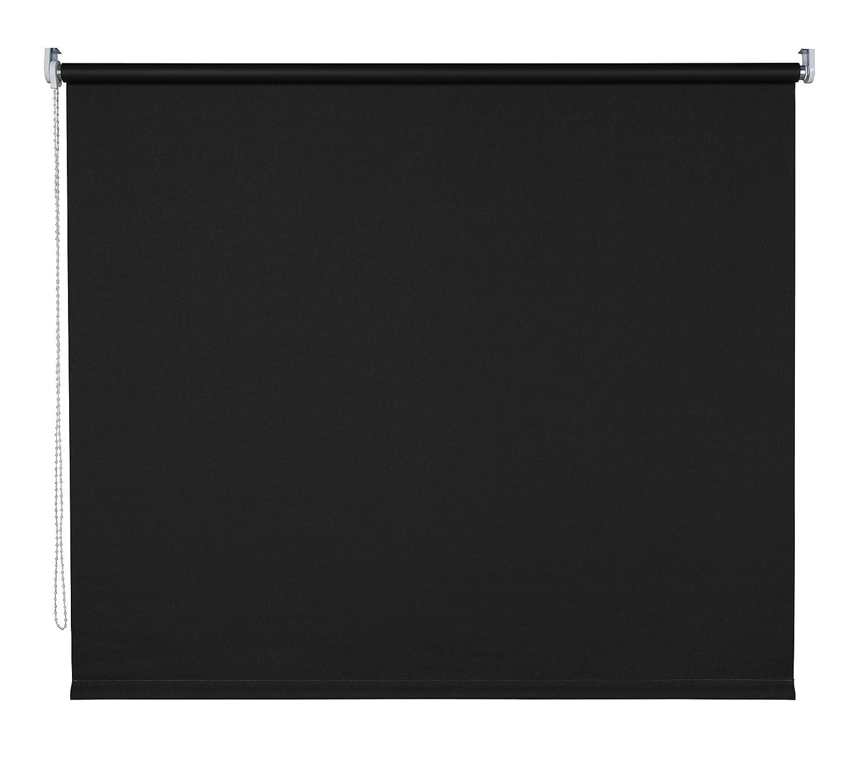 Klemmfix Rollo Kettenzugrollo Seitenzugrollo Farbwahl Fenster Tür Montage ohne Bohren Breite 62-202 cm Länge 180 cm und 240 cm halbtransparent klemmbar Metall Klemmträger (192 x 180 cm   Schwarz)