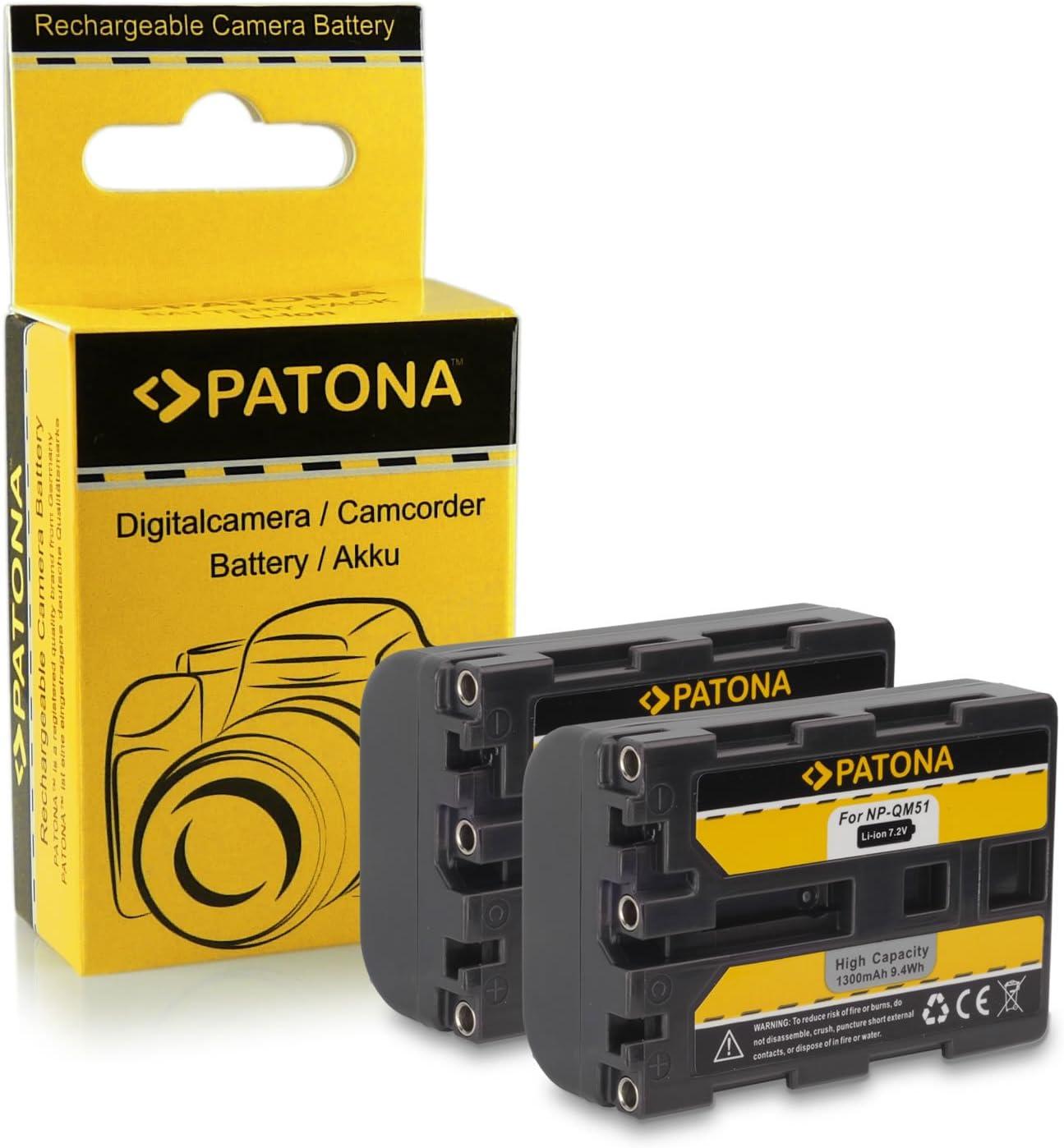 reemplaza: np-fm55h np-fm50 1300mah np-qm51 Bateria para Sony dcr-dvd91e