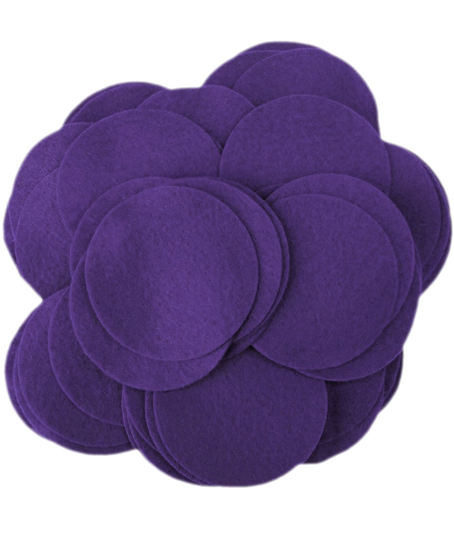 Playfully Ever After 5 Inch Dark Purple 18pc Felt Circles