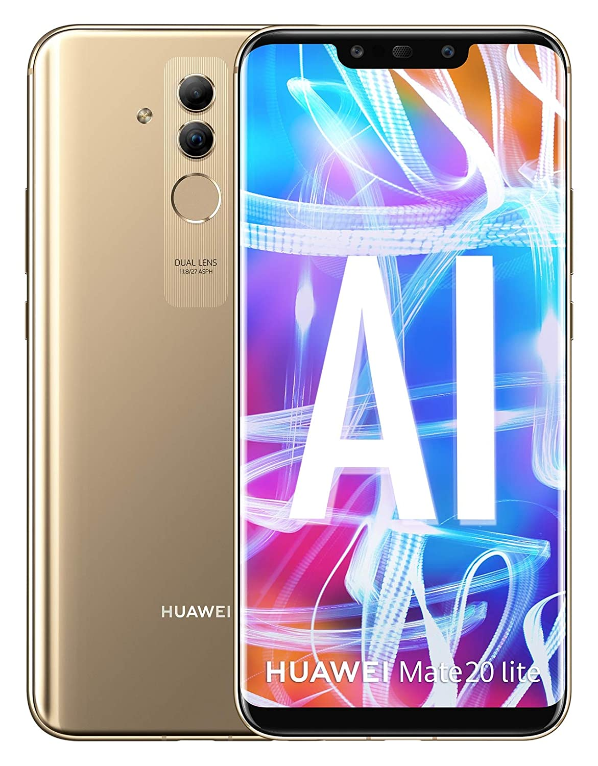 Huawei Mate 20 Lite SNE-LX3 64GB (Factory Unlocked) 6.3' FHD (International Version) (Platinum Gold)