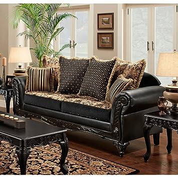 Wonderful Chelsea Home Furniture Gwendolyn Sofa, Monte Carlo Ebony/Bi Cast Ebony