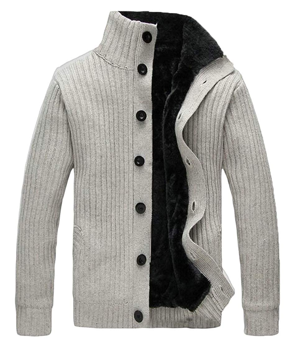 M/&S/&W Mens Casual Single Breasted Thicken Knitted Cardigan Sweater