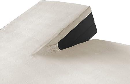 SLEEPMED Sábana Bajera Ajustable para Cama Doble Articulada | Juego de 2 | Sábanas en Algodón elástico de Jersey tamaños (Crema, 160 x 200 cm): Amazon.es: Hogar