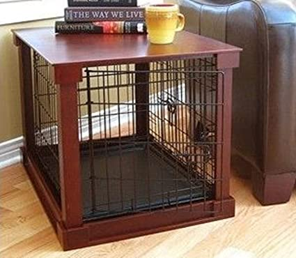 furniture pet crate dog kennel wood small size cage wooden end side table bed - Dog Crate Side Tables