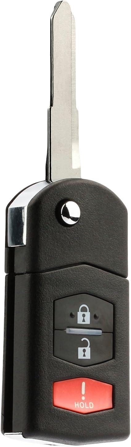Flip Key Fob Remote fits 2005 2006 2007 2008 Mazda 6 Sedan /& Mazda RX-8 KPU41788