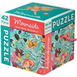 "Mudpuppy 42-Piece Mermaids Puzzle – Whimsical Artwork Includes Mermaids & Colorful Fish – Finished Puzzle Size of 16""x16"""