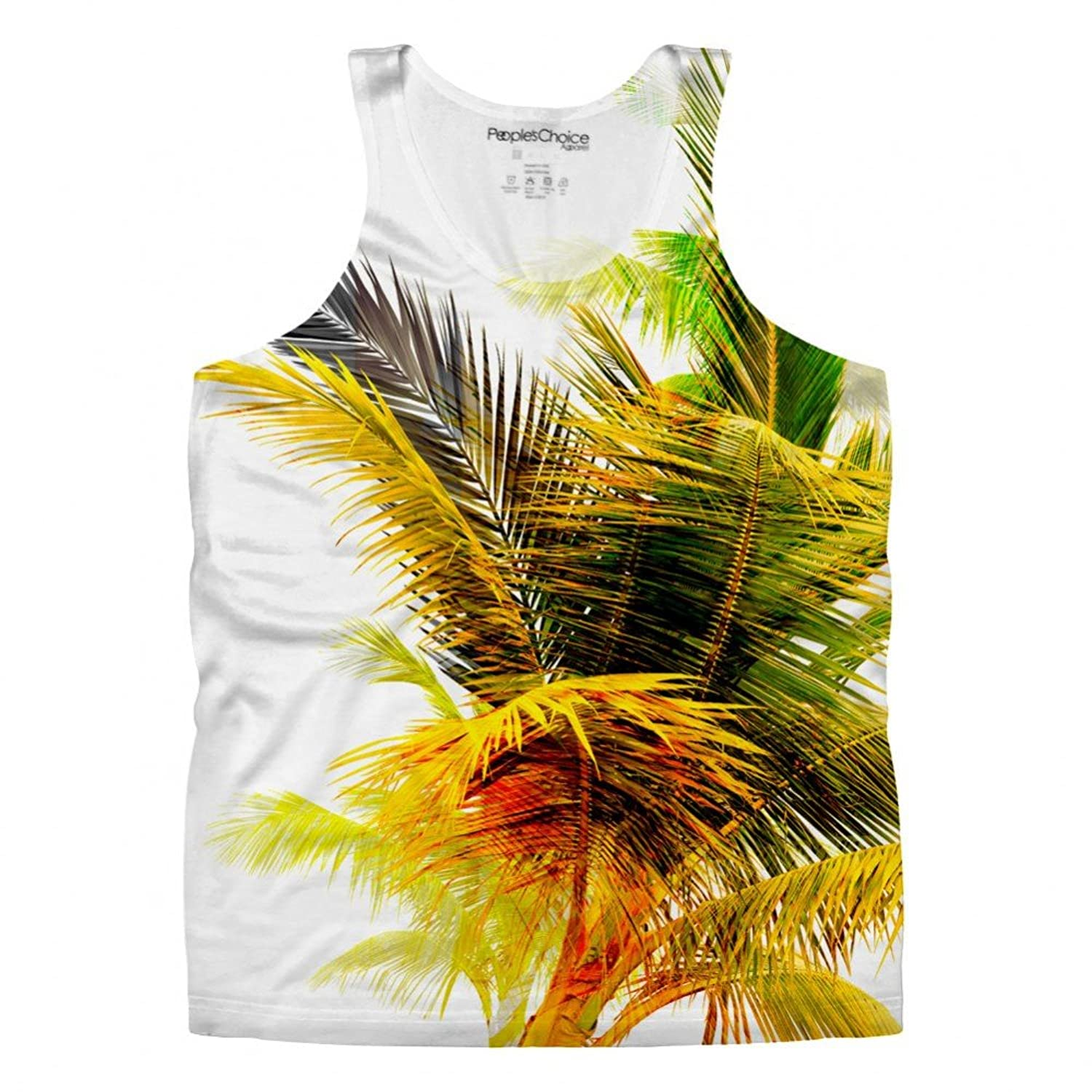 Palm Trees Tropical for Mens Tank Top by Peoples Choice Apparel