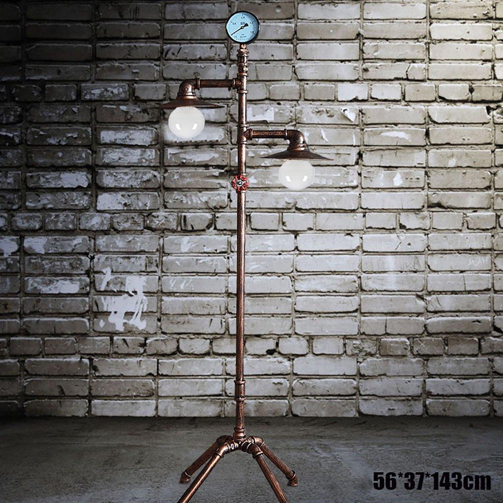 Standleuchten Europäische Retro Eisen Boden Lampe Wohnzimmer Studie kreative Wasser Rohr Lichter stehlampe Shou S