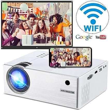 Amazon.com: WEILIANTE Proyector inalámbrico WiFi LCD Mini ...