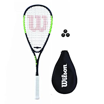 Wilson Blade Team Squash Racket with 3 Squash Balls (Various Options)